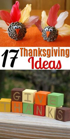 Today I am sharing 17 Thanksgiving DIY ideas. This is everything from home decor, to fun crafts to do with your kids for this time of year! You will find a little bit of everything that will make your Thanksgiving even better! Fun Crafts To Do, Fall Crafts, Diy Crafts For Kids, Halloween Crafts, Kids Diy, Quick Crafts, Thanksgiving Diy, Thanksgiving Decorations, Leaf Crafts