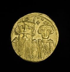 Ancient Roman #Byzantine Gold Solidus Coin Emperor Constans II #GoldCoins