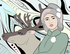 "Check out new work on my @Behance portfolio: ""Arctic Girl with a Deer"" http://be.net/gallery/51406275/Arctic-Girl-with-a-Deer"