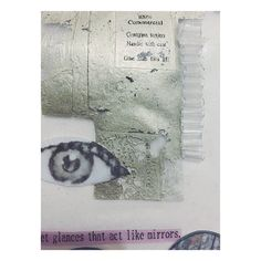 Combining paper and fabric element through mixed media collages protesting against the pressures of society upon women today.