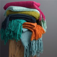 Surya Tilda Magenta Throw Blanket - Save 15% Off all Surya with code SURYA15 thru 3/31/15