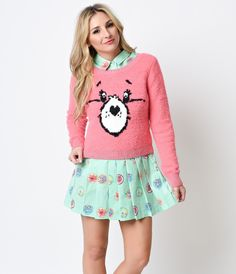 Pink Plush Care Bear Stare Sweater
