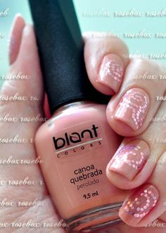 esmalte Blant canoa quebrada + nail art