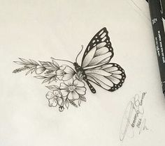 And make the flowers poppies life tattoos, body art tattoos, sleeve tattoos Life Tattoos, Body Art Tattoos, Small Tattoos, Sleeve Tattoos, Cool Tattoos, Tatoos, Butterfly Drawing, Butterfly Tattoo Designs, Drawings Of Butterflies