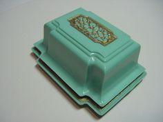 Vintage Art Deco Celluloid Ring Box Green w Gold Carved Floral Lid 30's Bakelite | eBay