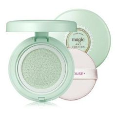 Etude House Precious Mineral Magic Cushion in Mint is a primer base (used before foundation or BB cream) that helps diminish the appearance of redness and blotchiness, lock in hydration, and protect the skin with SPF34/PA+++. | 18 Korean Beauty Products You Need In Your Life