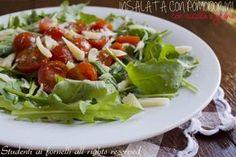 insalata con pomodorini rucola e grana a scaglie ricetta insalata fresca estiva