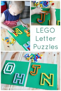 LEGO Letter Puzzles - Great fine motor practice activity for preschoolers