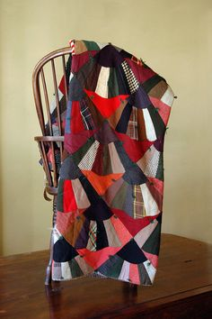 Antique Quilt / Patchwork Fan Quilt Pattern by 86home on Etsy, $360.00