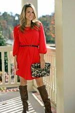Ashley Dress Red