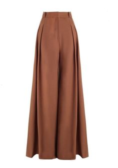 Karmic Tuck Palazzo, from our Fall 16 collection, in Tan wool blend suiting. Full length wide pant with front pleats, front fly closure, side seam pockets and welt back pockets. Fashion Pants, Hijab Fashion, Fashion Outfits, Wide Leg Trousers, Wide Leg Pants, Polyvore Outfits, Polyvore Fashion, Marlene Hose, Palazzo Trousers