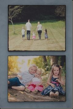 DIY photo canvas with mod-podge