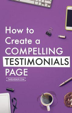 How To Create An Effective Testimonials Page (scheduled via http://www.tailwindapp.com?utm_source=pinterest&utm_medium=twpin&utm_content=post14266010&utm_campaign=scheduler_attribution)