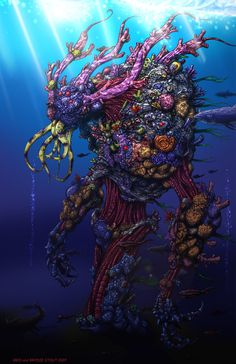 Coral Golem by *largominus2004 on deviantART