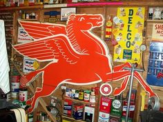 we (siblings) always called him Benny the flying red horse;    Pegasus  1954
