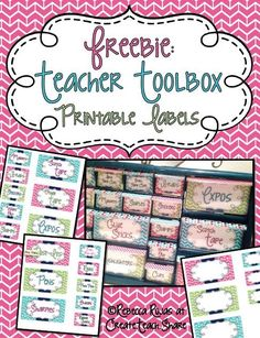 Free teacher toolbox labels to organize your classroom supplies.