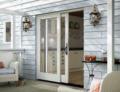 Create an elegant atmosphere with our beautiful sliding doors! #windowinspo #doorinspo #doors #meridian