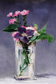 """""""Ragged Robins and Clematis"""" by Edouard Manet"""