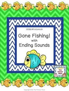 The Gone Fishing with Ending Sounds Center Game created by The Primary Place is ideal for Pre-K - 1st grade. There are 12 pages in this PDF file. You can make this a center or create enough for the class to do this activity at the same time in small groups.