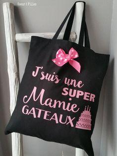 Le tote bag spécial Noël pour une super mamie gâteaux : Autres sacs par coeur-2-filles