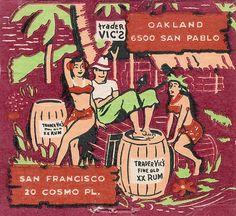 Trader Vic's Vintage Matchcover Image by hmdavid, via Flickr