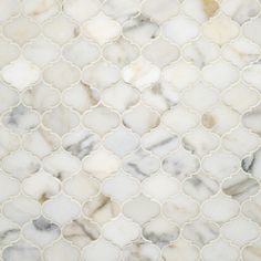 Etoile Calacatta Gold Polished Water Jet Mosaic | Artistic Tile