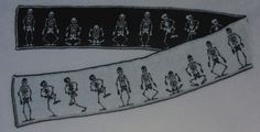 Ravelry: Dancing Skeletons Double Knit Scarf by Frivolite Handcrafts