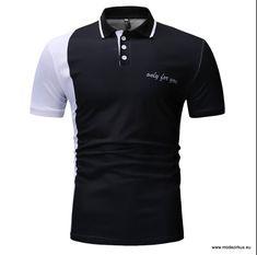 Poloshirt 2019 für Herren Schwarz Stielvoll in Schwarz Weiß d3515d36bf