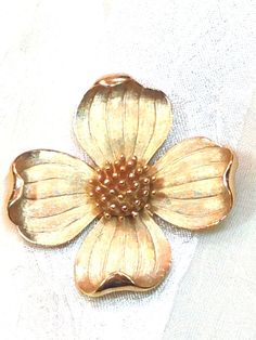 Vintage Crown Trifari Dogwood Brooch Estate Jewelry