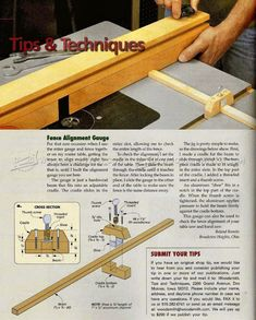 Router Fence Alignment Gauge - Router Tips, Jigs and Fixtures | WoodArchivist.com