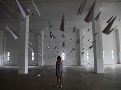 Amazing Paper Plane Installation