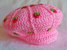 Strawberry Shortcake Hat Newborn And Up by conniemariepfost, $32.00