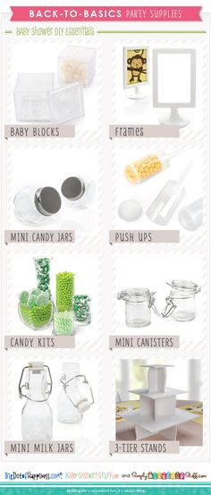 Do It Yourself Baby Shower Supplies | Baby Shower Ideas