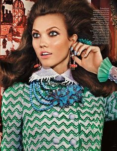 British Vogue - Lady Luxe Mario Testino (Photographer) House of Snowball - Drippy lace organdy shirt collar