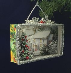 Christmas in the Country Christmas Card Shadowbox Diorama