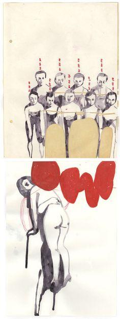 Tina Berning: sketchbook modern pen and ink inspirational jottings and illustrations
