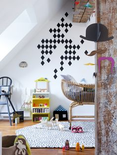 mix of graphic shapes #kids #room #interior #decor