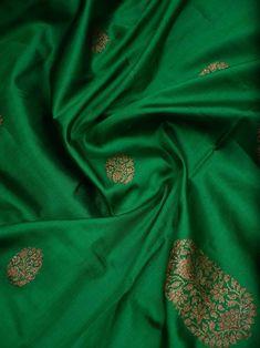 Indian Silk Sarees, Soft Silk Sarees, Indian Attire, Indian Wear, Weave Shop, Banaras Sarees, Teal Green Color, Wedding Picture Poses, Green Saree