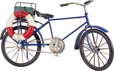 Cód. 112.054 - Bike C/ Bóia Branca E Vermelha Oldway - 18x31x10