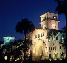 Santa Barbara Court House at night... so beautiful and the pic doesn't do it justice.