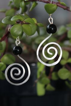 wire wrapped jewelry handmade silver earrings by shahrinalam