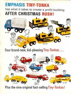 1969 Advert 2 Sided Tonka Toy Trucks Tiny Color Bull Dozer Tow Wrecker Truck | eBay