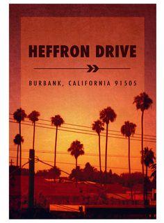 Heffron Drive 2013 Tour Poster
