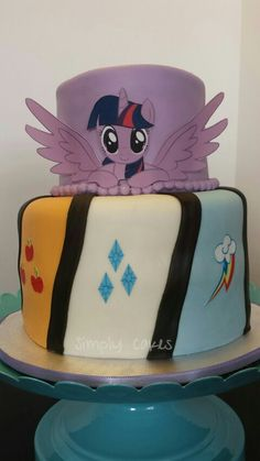 My Little Pony cake with Princess Twilight Sparkle and the Elements of Harmony… My Little Pony Cake, My Little Pony Twilight, My Little Pony Birthday, Fourth Birthday, Birthday Cake Girls, 4th Birthday Parties, Twilight Sparkle Equestria Girl, Princess Twilight Sparkle, Sparkle Cake