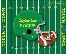Custom Personalized Name Print 8x10 Football Rocks by TypeArtist, $12.00