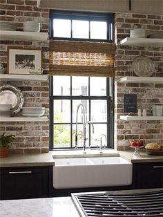 Kitchen Backsplash Brick Look rustic kitchen design ideas | see best ideas about copper, brother