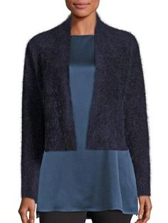 EILEEN FISHER Textured Cropped Cardigan. #eileenfisher #cloth #cardigan