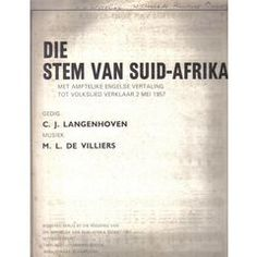 SOUTH AFRICAN HISTORY!! THE AFRIKAANS SHEET MUSIC OF DIE STEM. C.J.LANGENHOVEN. COLLECTABLE.