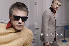 El actor Christoph Waltz para la campaña publicitaria de Prada Fall/Winter 2013-2014