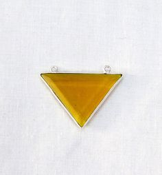Bear Quartz Station Triangle Charm Connector Hydro Glass 21X30mm 925 Silver Plated Double Bail Gemstone 1pc with FREE SHIPPING WORLD Wide by Sunrisegemstone on Etsy